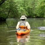 Kayaking down Mill Creek