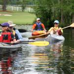 Paddlers enjoying the Roanoke River
